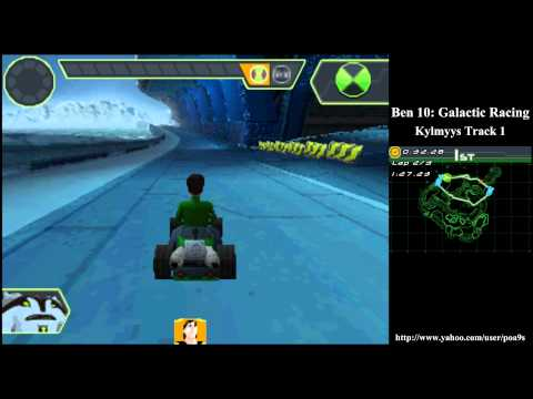 Ben 10 Glactic Racing Kylmyys Track 1 Walkthrough Part 5 (2011 DS NDS) 1080p HD