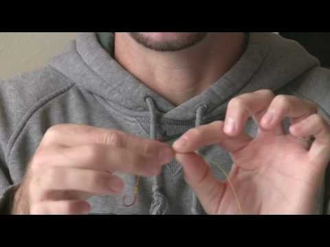 How to tie a double egg loop knot