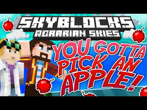 Minecraft - Hardcore Skyblock Part 89: You've Gotta Pick An Apple Or Two (agrarian Skies Mod Pack) video