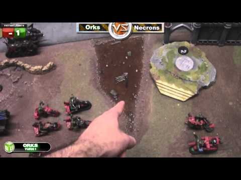 Orks vs Necrons Warhammer 40k Battle Report - Waaagh! Batrep Ep 4 - Part 2/7