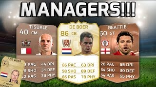 FIFA 15 - PLAYABLE MANAGERS!!! - Team Of Managers On Fifa 15