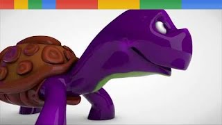 Giant Animals Learn colors and Surprise Egg Lipstick Funny Animation Kids