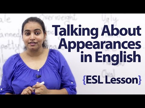 Talking About Appearances In English - Spoken English Lesson video