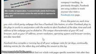 Alert ! Facebook Finaly Admits to Tracking NON USERS !