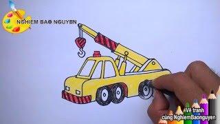 Vẽ xe cần cẩu/How to Draw Cranes