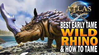 You NEED This Tame! How To Tame The Wild Rhino! Atlas Pirate Survival MMO Early Access