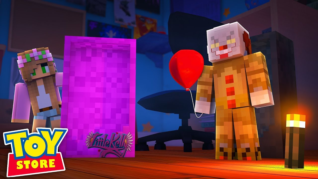 KILLER CLOWN IN THE TOYSTORE! Minecraft IT | Little Kelly