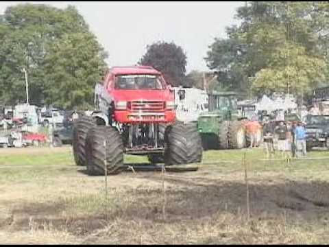 Mongoose Pro Monster Trucks Blowing a Mud Pit. Video