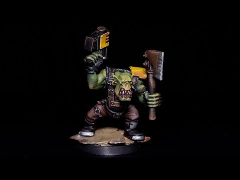 How to Paint Orks - Bad Moons Ork Boy