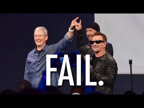 Fail - Apple Gives Free U2 Album, People Are Angry video