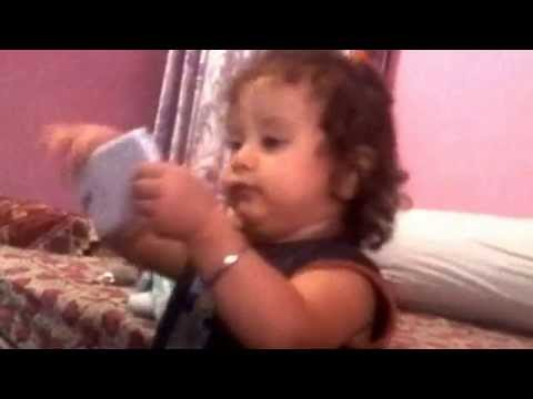Awesome Video Of Cute Baby Girl Talking On Phone In Kashmiri video
