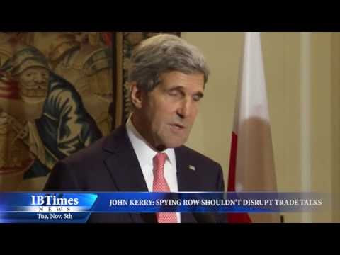 John Kerry: Spying Row Shouldn't Disrupt Trade Talks