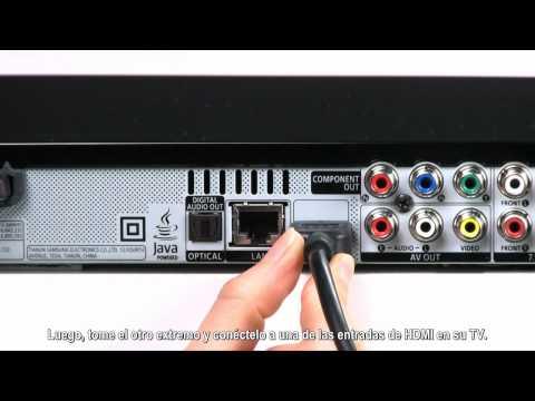 Como conectar el Reproductor Blu-ray con un cable HDMI