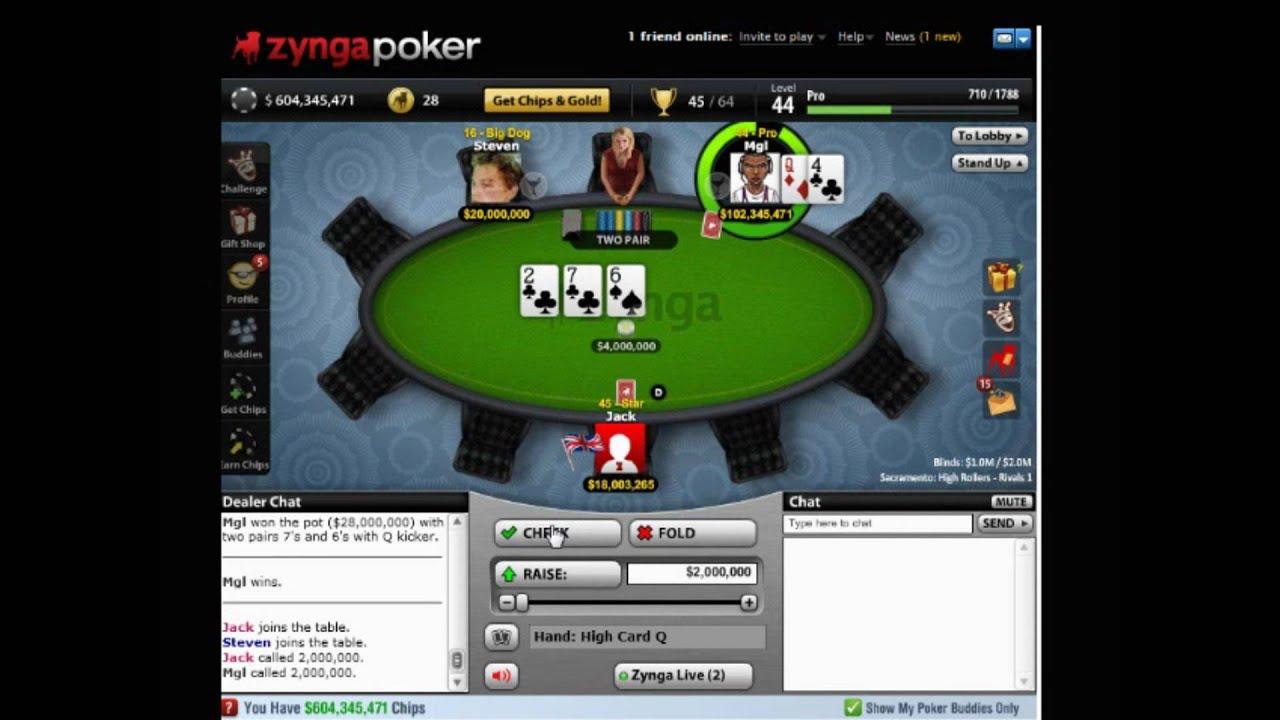 Cheats for zynga texas holdem poker on facebook