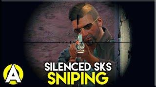 SILENCED SKS SNIPING - PLAYERUNKNOWN'S BATTLEGROUNDS