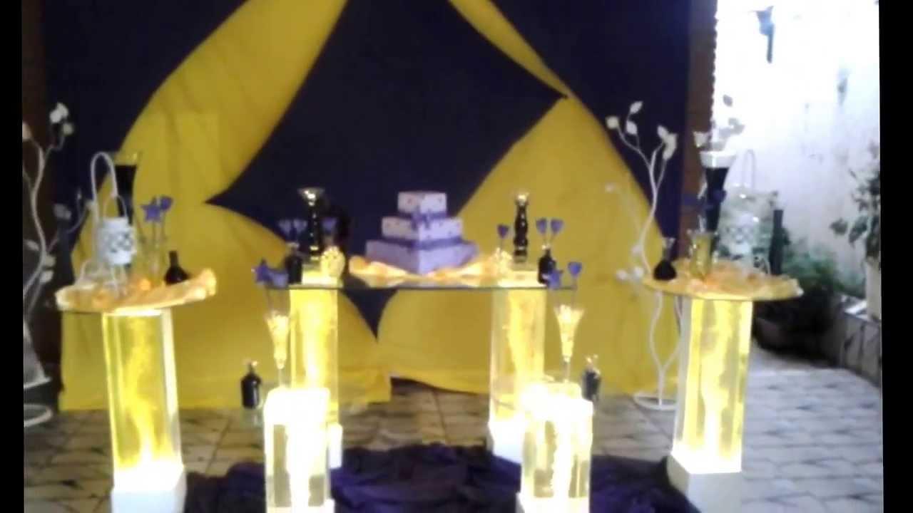 decoracao amarelo branco e preto:Felix Cerimonial – Festa Amarelo com Roxo – YouTube