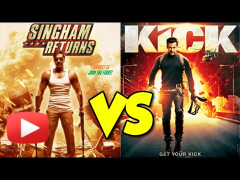 Ajay Devgn's Singham Returns Beats Salman Khan's Kick - Opening Day Box Office Collection video