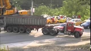 Accident Mack Truck