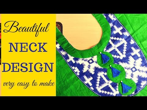 Neck design making | Beautiful and easy neck design.