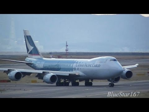 [Hong Kong Trader] Cathay Pacific Airways Cargo Boeing 747-8F (B-LJA) landing at KIX/RJBB RWY 06R
