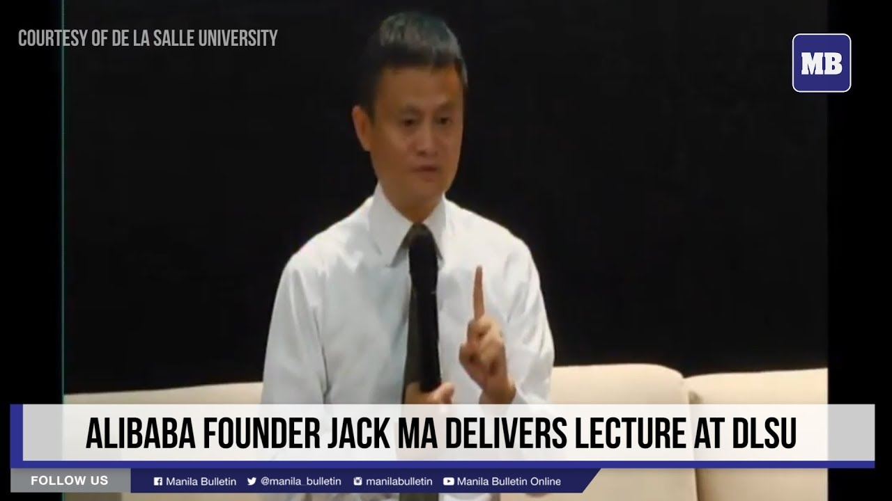 Alibaba founder Jack Ma delivers lecture at DLSU