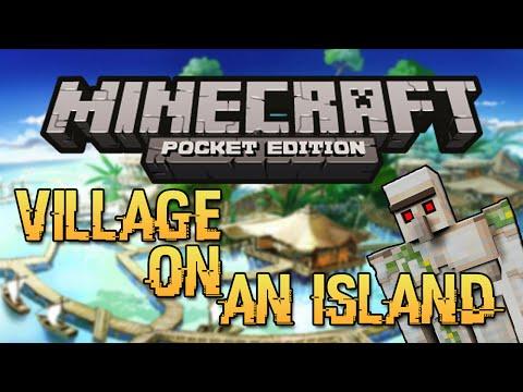 VILLAGE ISLAND SEED! - Minecraft Pocket Edition Seed 0.10.4 (Rare Seed!)