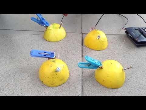 Experimento de Electricidad (con limones)