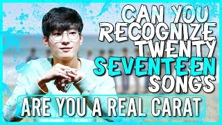 Download Lagu ARE YOU A REAL CARAT | CAN YOU RECOGNIZE 20 SEVENTEEN SONGS Gratis STAFABAND