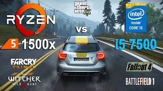 Ryzen 5 1500x  vs i5 7500 Test in 6 Games (RX 580)