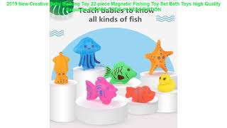 Promo 2019 New Creative Baby Bathing Toy 22-piece Magnetic Fishing Toy Set Bath Toys High Quality E