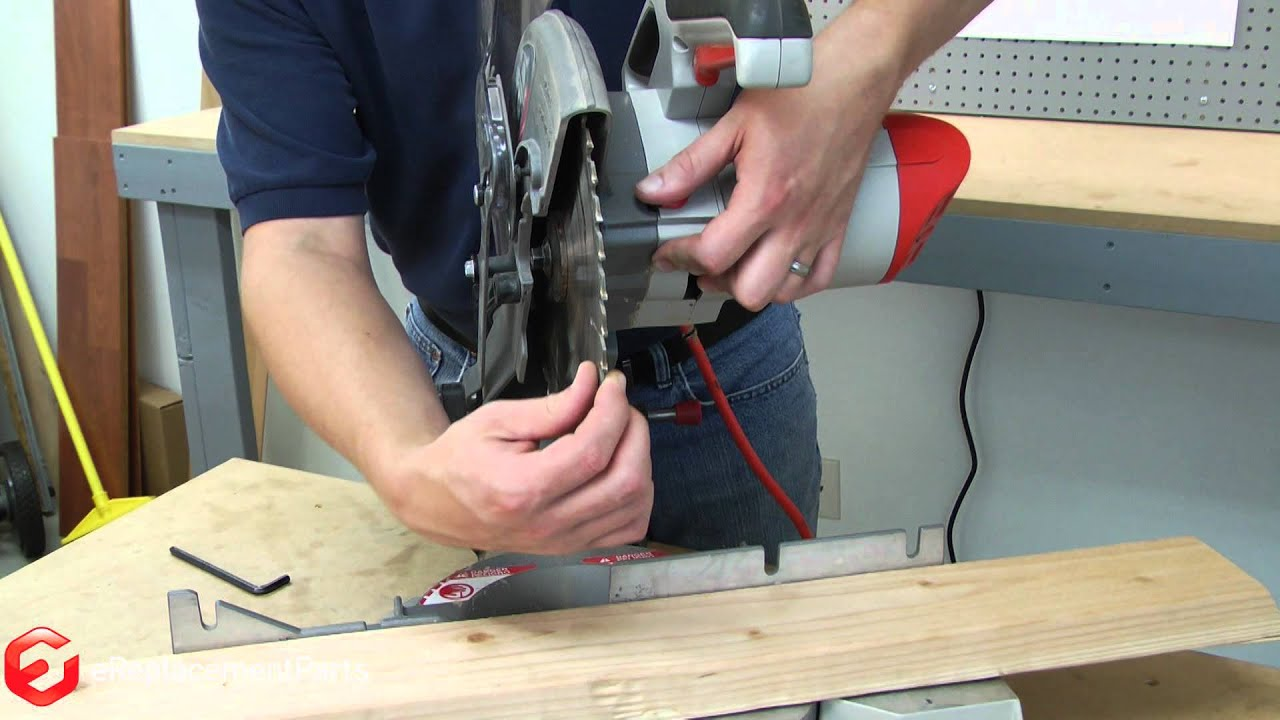 how to replace the blade on miter saw