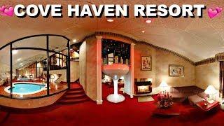 COVE HAVEN RESORT!! | POCONOS | CHAMPAGNE TOWER