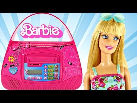 Barbie Save n' Shop Electronic Purse Bank Saving Real Money with Barbie Banco de Juguete DCTC