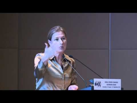 Tzipi Livni at the WJC Governing Board (1 of 2)