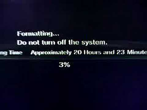 Full Format Hard Disk On PS3