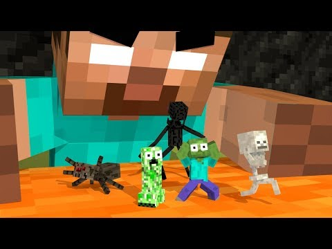 Monster School Life : MONSTERS BECOME TINY - Minecraft Animation