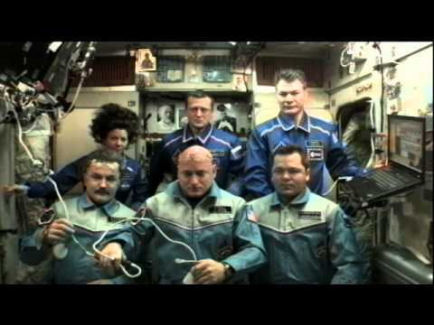 Russian Prime Minister Calls the Station Crew