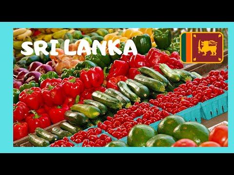 SRI LANKA, the graphic fruit and vegetable market in GALLE