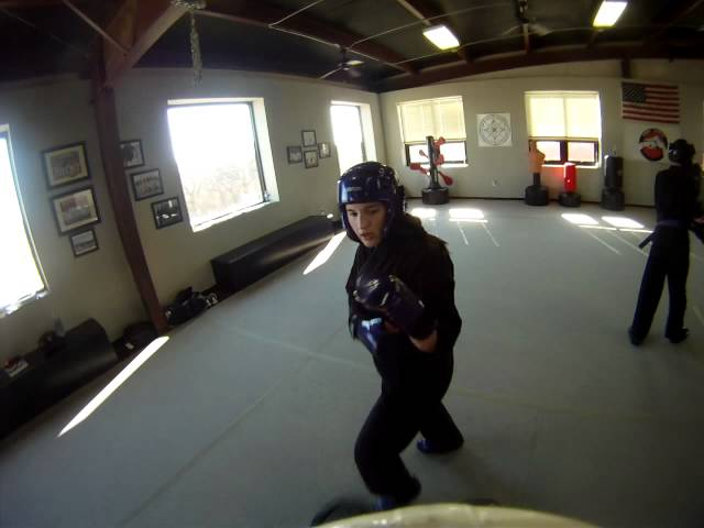 Sparring at Disciple Martial Arts - Sam vs Claire