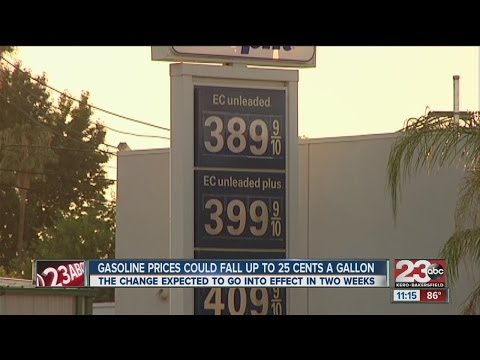 Gasoline Prices Could Fall Up To 25 Cents A Gallon