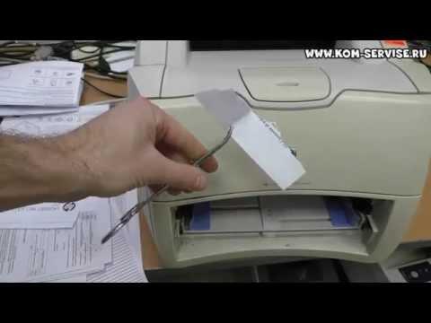 Почему не забирает бумагу принтер