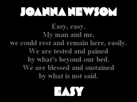 Joanna Newsom - Easy (with lyrics)