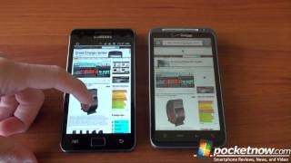 Galaxy S 2 vs. iPhone, Thunderbolt, Focus (Web Browsing)