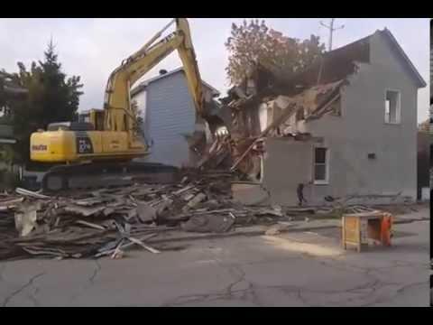 D molition d 39 une maison hull oct 2013 youtube - Destruction d une maison ...