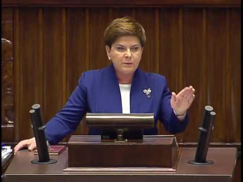 Premier Szydło w Sejmie o suwerenności i konstytucji