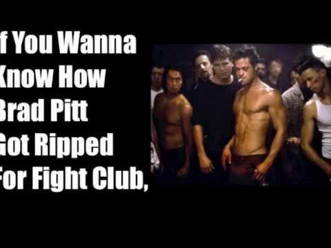 The Brad Pitt Diet - Brad Pitts Fight Club Fat Loss - YouTube