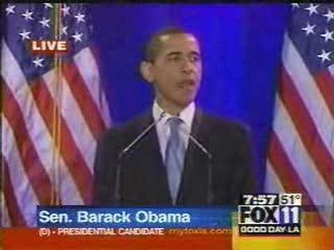 Barack Obama Speech on Race (Tuesday, March 18, 2008)