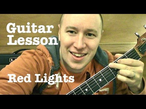 Red Lights ★ Guitar Lesson ★ EASY RIFF TUTORIAL ★ Tiesto Music Videos