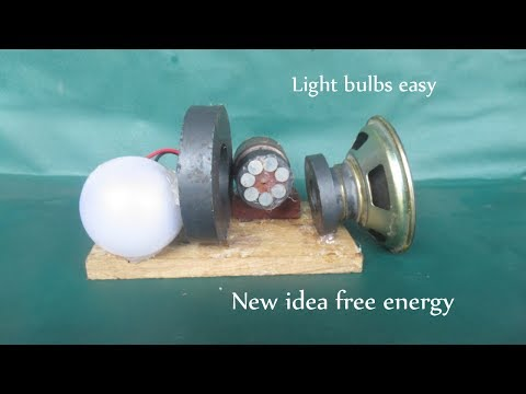 Free energy device light bulb with magnets & motor - New idea at home thumbnail