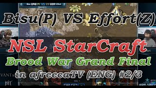 [NSL StarCraft: Brood War]Grand Final Bisu(P) vs Effort(Z) in AfreecaTV(ENG) #2/3
